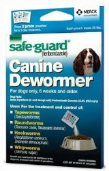 Safeguard Wormer f/Dogs 2 gram