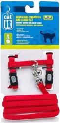 Adjustable Harness Set Medium Red