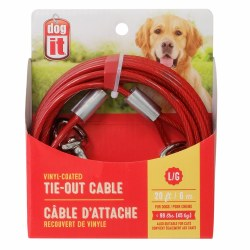 DogIt Vinyl Coated Tie Out Cable Large 20 Feet