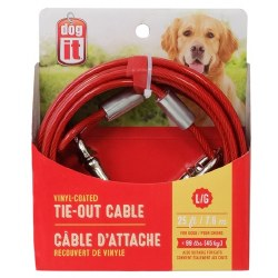 DogIt Vinyl Coated Tie Out Cable Large 25 Feet