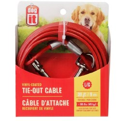 DogIt Vinyl Coated Tie Out Cable Large 30 Feet