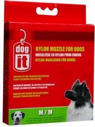 DogIt Medium Nylon Black Dog Muzzle 6 Inch