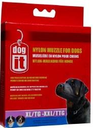 Dogit 10 Inch Nylon Dog Muzzle Black XL/XXL