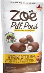 Zoe Pill Pops Peanut Butter with Honey Dog Treats 3.5oz