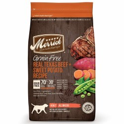 Merrick Grain Free Real Texas Beef and Sweet Potato Recipe Dry Dog Food 25lb