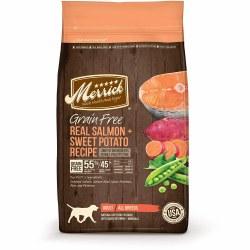Merrick Grain Free Real Salmon and Sweet Potato Recipe Adult Dry Dog Food 25lb