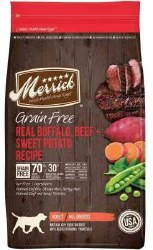 Merrick Grain Free Real Buffalo and Sweet Potato Dry Dog Food 25lb