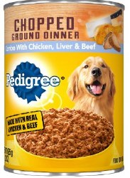 Pedigree Chopped Ground Dinner Combo with Chicken, Beef and Liver Canned Dog Food 22oz
