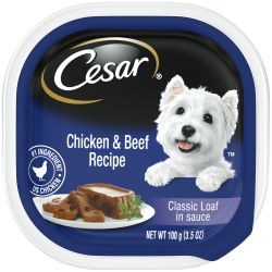 Cesar Classics Pate with Chicken and Beef Dog Food Trays 3.5oz