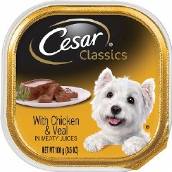 Cesar Classics Pate with Chicken and Veal Dog Food Trays 3.5oz