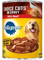 Pedigree Choice Cuts in Gravy with Beef Canned Dog Food 22oz