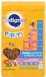 Pedigree Puppy Growth & Protection Chicken and Vegetable Flavor Dry Dog Food 16.3lb