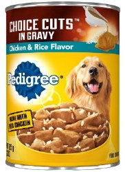 Pedigree Choice Cuts in Gravy with Chicken and Rice Canned Dog Food 22oz