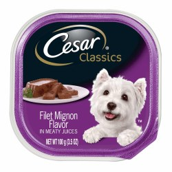 Cesar Classics Pate Filet Mignon Flavor Dog Food Trays 3.5oz