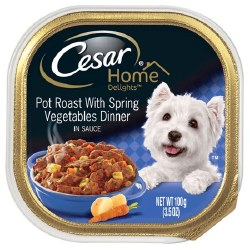 Cesar Home Delights Pot Roast Dog Food Trays 3.5oz