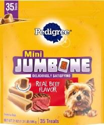 Pedigree Mini Jumbone Real Beef Flavor Dog Treats 35pk