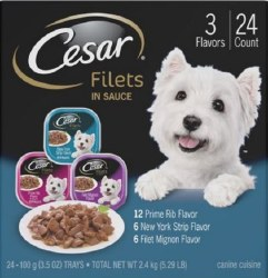 Cesar Gourmet Filets Var 24ct