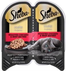 Sheba Chicken/Beef Cuts 2.6oz