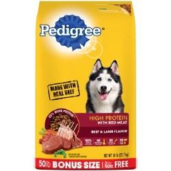 Pedigree Red Meat 50lb Bonus