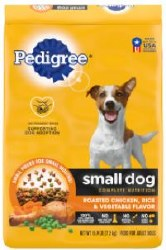 Pedigree Small Dog Complete Nutrition Roasted Chicken Rice and Vegetable Flavor Small Breed Dry Dog Food 15.9lb