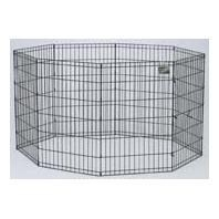 MidWest Black E-Coat Exercise Pen with Step-Thru Door 36 Inch tall