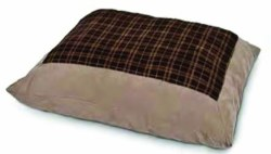 Plush Plaid Pillow 27x36 Inch