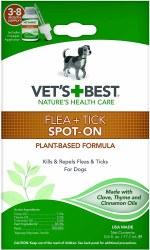 Vets Best Flea/Tick SpotOn Dog