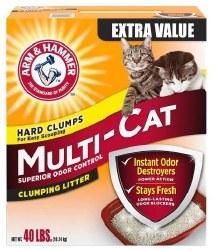 Arm & Hammer Multi Cat Extra Strength Clumping Litter 40lb