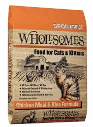 SPORTMiX Wholesomes Chicken Meal & Rice Formula Adult Dry Cat Food 5lb bag