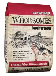 SPORTMiX Wholesomes Chicken Meal and Rice Formula Adult Dry Dog Food 40lb