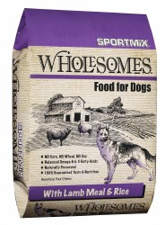 SPORTMiX Wholesomes Lamb Meal and Rice Formula Dry Dog Food 40lb