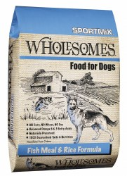 SPORTMiX Wholesomes Fish Meal and Rice Formula Adult Dry Dog Food 40lb