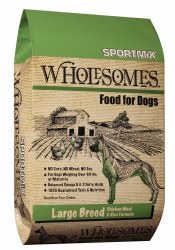 SPORTMiX Wholesomes Large Breed Chicken Meal and Rice Formula Adult Dry Dog Food 40lb