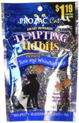 Pro Pac Tempting Tidbits Tuna & Whitefish Cat Treats 3 oz