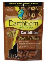 Earthborn Holistic EarthBites Peanut Flavor Natural Moist Treats For Dogs 7.5oz