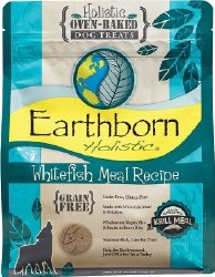 Earthborn Holistic Grain Free Whitefish Meal Recipe Oven Baked Dog Treats 14oz