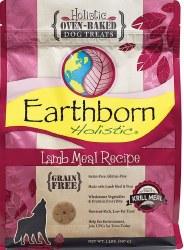 Earthborn Holistic Grain Free Lamb Meal Recipe Oven Baked Dog Treats 2lb