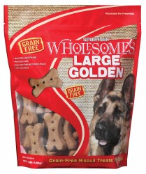 SPORTMiX Wholesomes Grain Free Large Golden Biscuit Dog Treats 4lb
