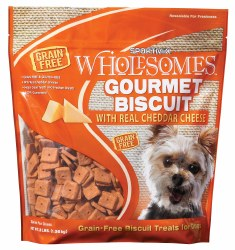 SPORTMiX Wholesomes Grain Free Premium Gourmet Biscuit with Real Cheddar Cheese Dog Treats 3lb