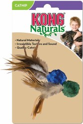 Natural Crinkle Ball w/Feather