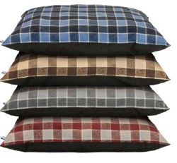 Cozy Pet Kennel Bed Plaid Asst