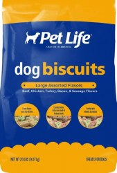 Pet Life Multi Flavor Large Dog Biscuits 20lb
