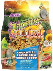 Brown's Tropical Carnival with ZOO Vital Biscuits Cockatiel Bird Food 5lbs