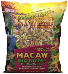 Browns Tropical Carnival Macaw Big Bites Food For Big Birds With Zoo VItal Niscuits 14lb
