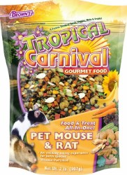 Browns Tropical Carnival Mouse And Rat Food And Treat All In One 2lbs