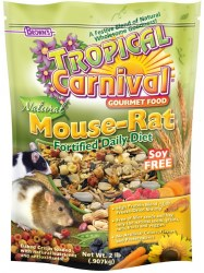 Browns Tropical Carnival Natural Mouse And Rat Daily Diet Soy Free 2lbs