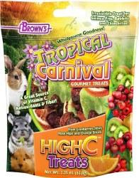 Brown's Tropical Carnival High C Small Animal Treats 2.25oz
