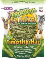 Brown's Tropical Carnival Natural Western Cut Loose Timothy Hay Small Animal Food 96oz