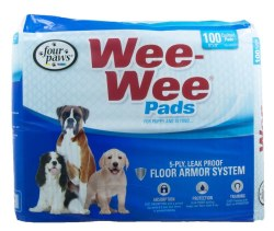 Four Paws Wee Wee Pads 100 Pk