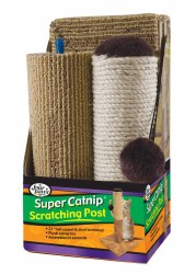 Four Paws Super Catnip Carpet And Sisal Scratching Post Cat House